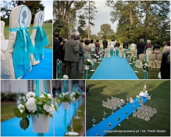 dodatki niebieski ślub