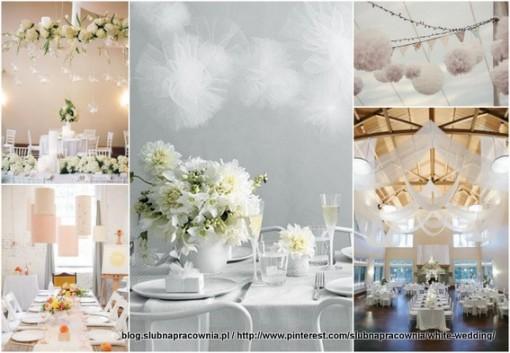 białe wesele dekoracje