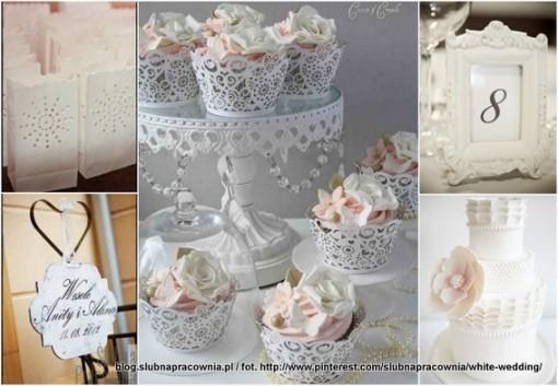 białe dekoracje  wesele