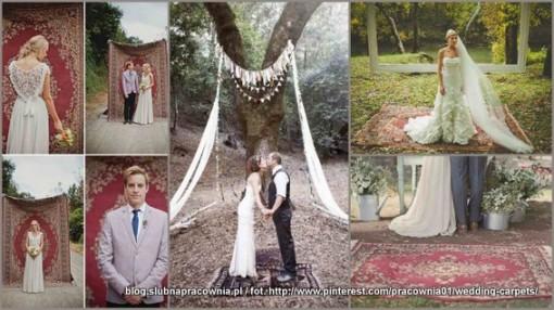 dywan sesja ślubna