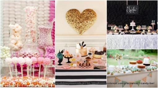 kolorowy stół ze słodyczami