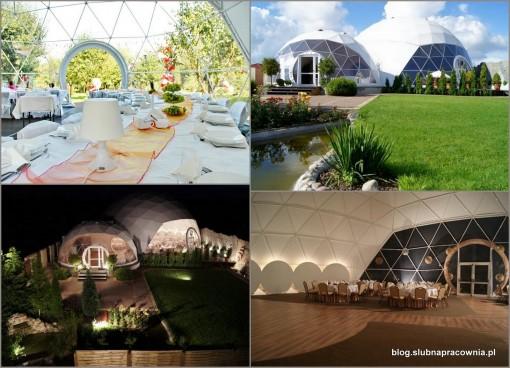 wesele namiot sferyczny