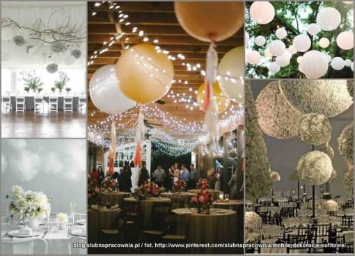 dekoracje wesele sufit