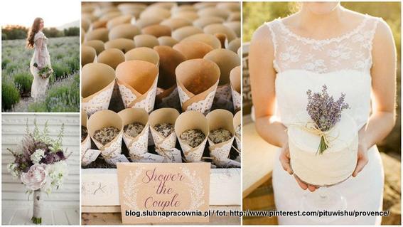 dekoracje wesele prowansalskie