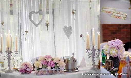 dekoracje serca wesele