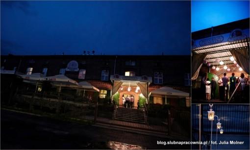 wesele restauracja nocą