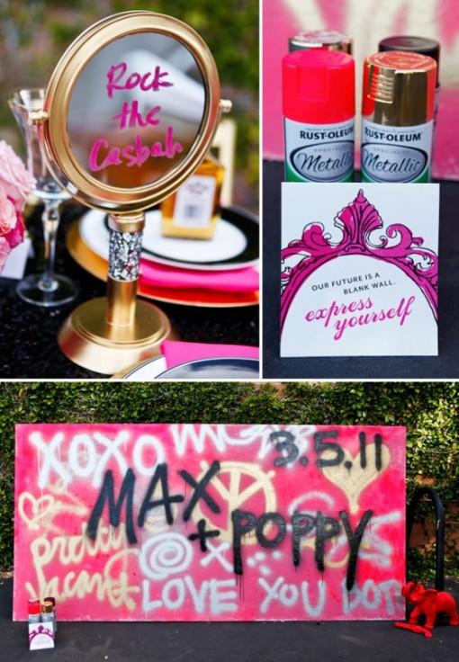 dekoracje wesele street art
