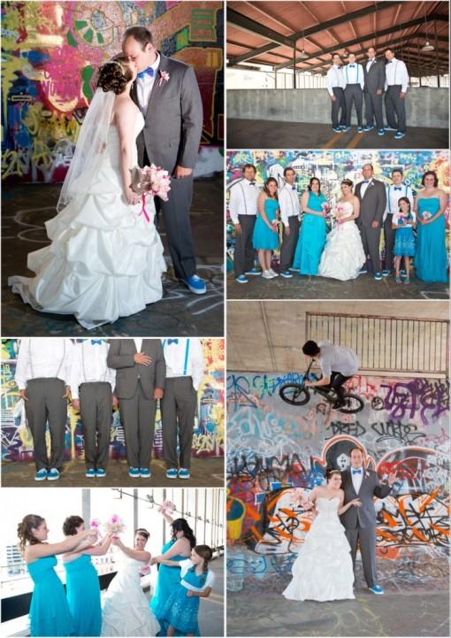 sesja ślubna street art
