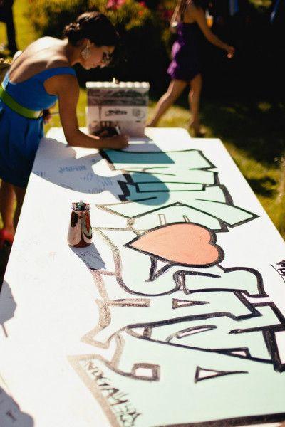 zabawa weselna graffiti