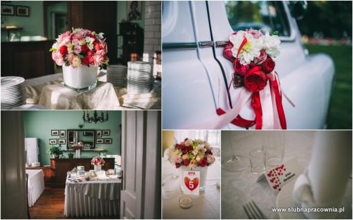 dekoracje czerwone wesele