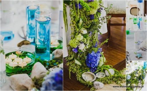 wesele morskie dekoracje