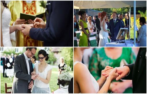 zakładanie obrączek ślub