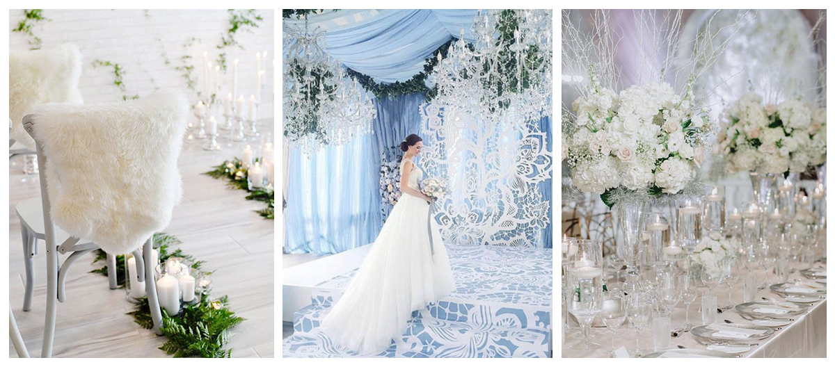 Zimowy ślub latem